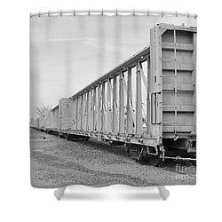 Rail Cars Shower Curtain