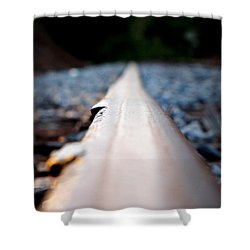 Rail Line Shower Curtain by Greg Simmons