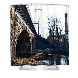 Rail Road Bridge Over The Brandywine Creek Downingtown Pa Shower Curtain by Bill Cannon