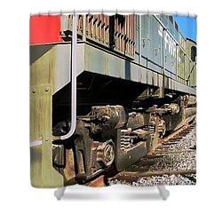 Shower Curtain featuring the photograph Rail Truck by Michael Gordon