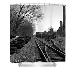 Railroad Siding Shower Curtain by Greg Simmons