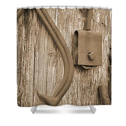 Railroad Tools  Shower Curtain by Kirt Tisdale