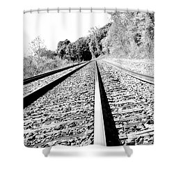 Shower Curtain featuring the photograph Railroad Track by Joe  Ng