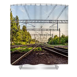 Railway To Nowhere Shower Curtain