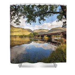 Railway Viaduct Over River Orchy Shower Curtain