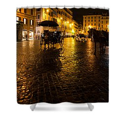 Rain Chased The Tourists Away... Shower Curtain