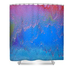 Rain Drops Abstract Shower Curtain by Haleh Mahbod