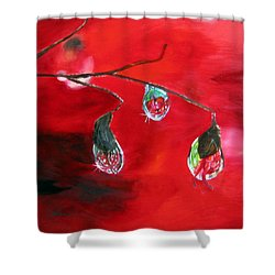 Shower Curtain featuring the painting Rain Drops Study by LaVonne Hand