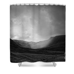 Rain In Riggindale Shower Curtain