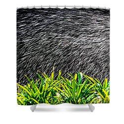 Rain In The Garden Shower Curtain by Edgar Laureano