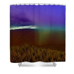 Rain North Of Bonners Ferry Shower Curtain by Jeff Swan