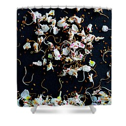 Rain Of Petals Shower Curtain by Edgar Laureano