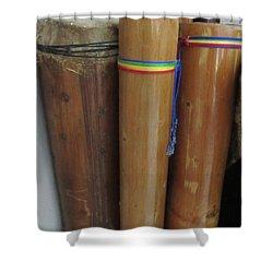 Rain Sticks Shower Curtain