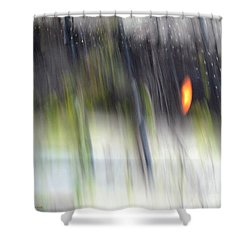 Shower Curtain featuring the photograph Rain Streaked City Scenes by Chris Anderson