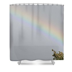 Shower Curtain featuring the photograph Rainbow After The Rain by Barbara Griffin