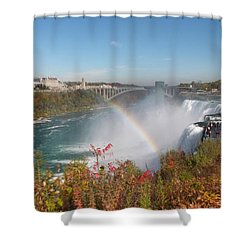 Rainbow At The American Falls Shower Curtain