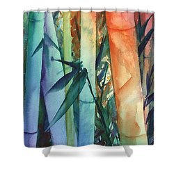 Rainbow Bamboo 2 Shower Curtain by Marionette Taboniar