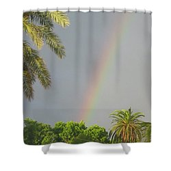 Shower Curtain featuring the photograph Rainbow Bermuda by Photographic Arts And Design Studio