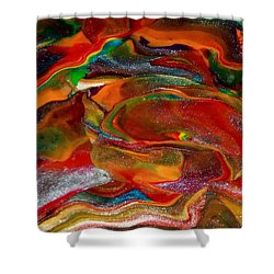 Rainbow Blossom Shower Curtain