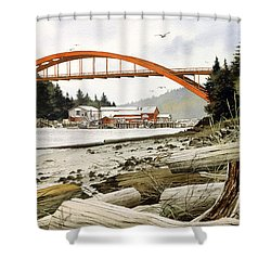 Rainbow Bridge Shower Curtain by James Williamson