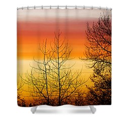 Rainbow Colored Sunset 2 Shower Curtain