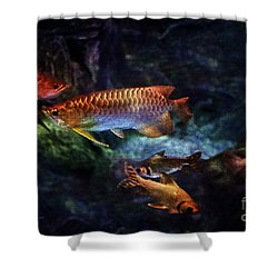Rainbow Exotic Fish Shower Curtain by Jani Bryson