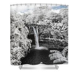 Rainbow Falls In Infrared 1 Shower Curtain