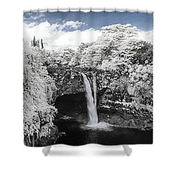 Rainbow Falls In Infrared 2 Shower Curtain