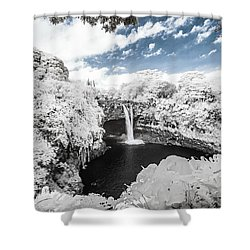 Rainbow Falls In Infrared 3 Shower Curtain