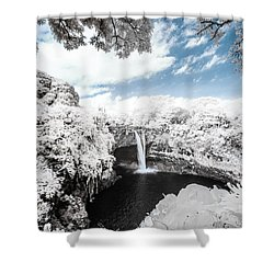 Rainbow Falls In Infrared 4 Shower Curtain