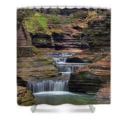 Rainbow Falls Shower Curtain