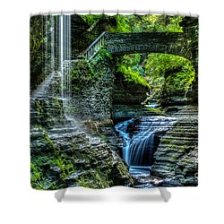 Rainbow Falls Watkins Glen Shower Curtain
