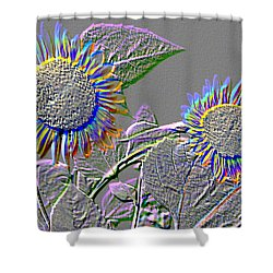 Rainbow Flower Shower Curtain by Tom Wurl