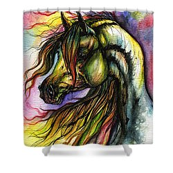 Rainbow Horse 2 Shower Curtain by Angel  Tarantella