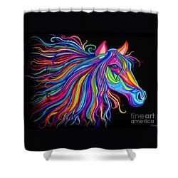 Rainbow Horse Too Shower Curtain
