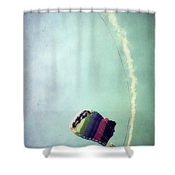 Rainbow In Motion Shower Curtain by Trish Mistric