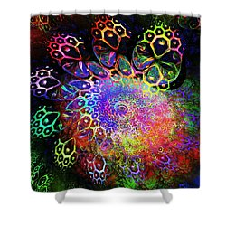 Rainbow Leopard Shower Curtain by Anastasiya Malakhova