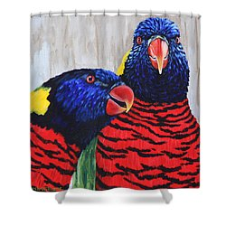 Rainbow Lorikeets Shower Curtain
