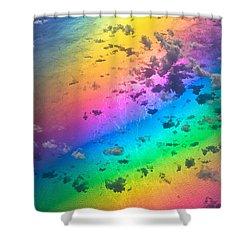 Rainbow Ocean Shower Curtain by Eti Reid