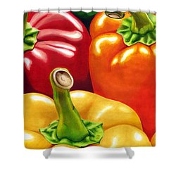 Rainbow Of Peppers Shower Curtain