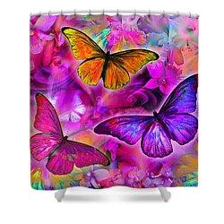 Rainbow Orchid Morpheus Shower Curtain by Alixandra Mullins