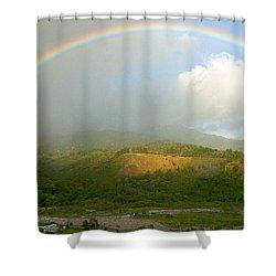 Rainbow Over Boquete Shower Curtain by Heiko Koehrer-Wagner