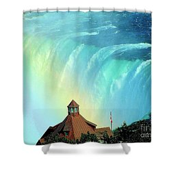Shower Curtain featuring the photograph Rainbow Over Horseshoe Falls by Janette Boyd