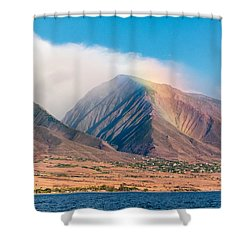 Rainbow Over Maui Mountains   Shower Curtain