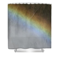 Rainbow Over The Falls Shower Curtain by Laurel Powell