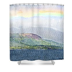 Rainbow Over The Isle Of Arran Shower Curtain