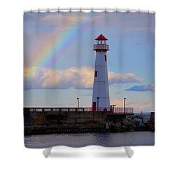 Rainbow Over Watwatam Light Shower Curtain