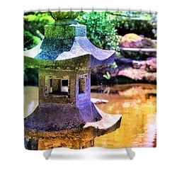 Rainbow Pagoda Shower Curtain