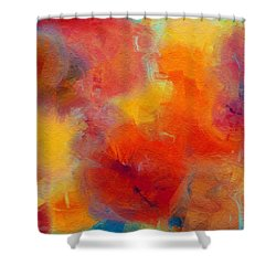 Rainbow Passion - Abstract - Digital Painting Shower Curtain by Andee Design