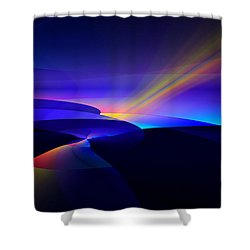 Rainbow Pathway Shower Curtain by GJ Blackman